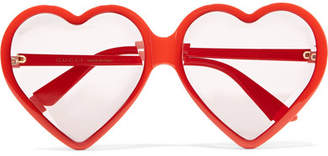 Gucci Heart-shaped Acetate Sunglasses - Red