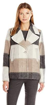 Laundry by Shelli Segal Women's Wool-Plaid Swing Coat