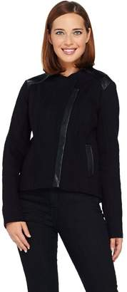 Sa By Seth Aaron SA by Seth Aaron Snake Embossed Jacket w/ Faux Leather Details
