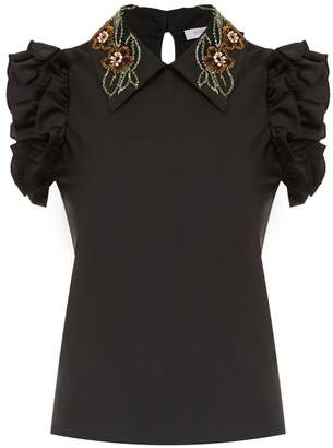Patbo embellished collar blouse