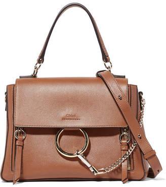 Chloé Faye Day Large Textured-leather Shoulder Bag - Tan