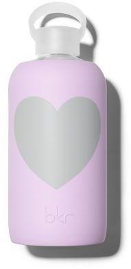 bkr Juliet Lavender Heart Glass Water Bottle/32 oz.