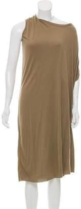Rick Owens Lilies Asymmetrical Knit Dress