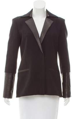 Helmut Lang Leather-Trimmed Blazer