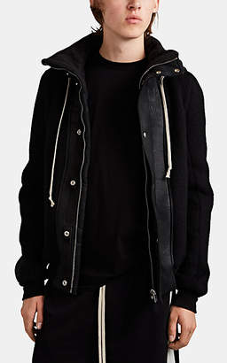 Rick Owens Men's Dustulator Brushed Wool Jacket - Black