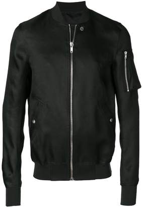 Rick Owens slim fit bomber jacket