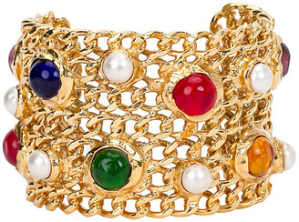 One Kings Lane Vintage Chanel Gripoix Cuff Bracelet - Vintage Lux