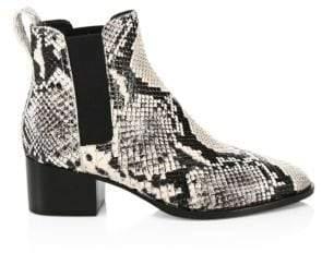 Rag & Bone Walker Snakeskin-Print Leather Chelsea Boots