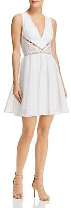 Lee SAU Rylee Embroidered Fit-and-Flare Dress