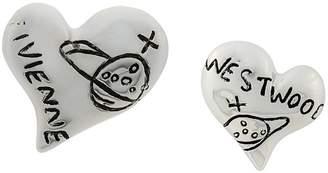 Vivienne Westwood heart earrings