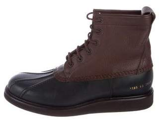 Common Projects Leather Duck Boots w/ Tags