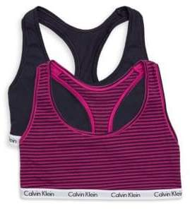 Calvin Klein Two-Pack Logo Sports Bra