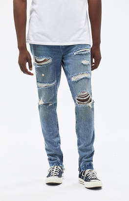 Pacsun Stacked Skinny Ripped Medium Jeans