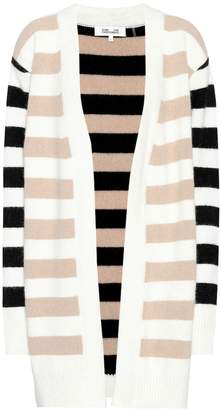 Diane von Furstenberg Striped angora-blend cardigan