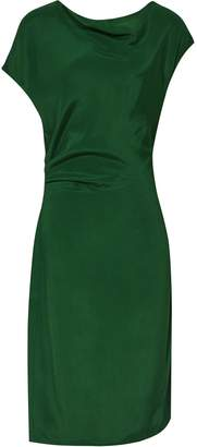 Reiss LORE CAPPED SLEEVE DRESS Dark Green