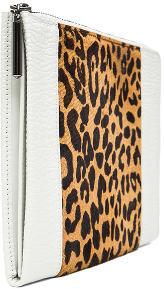 3.1 Phillip Lim Flat Zip in Natural Leopard