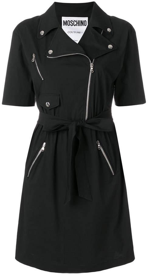 belted biker dress