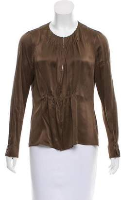Akris Punto Silk Long Sleeve Top