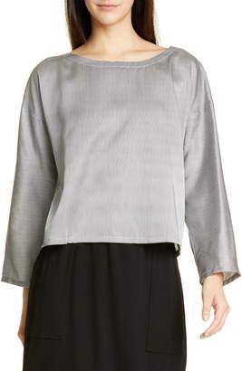 5bc0fd107d47a Eileen Fisher Stripe Silk   Cotton Blouse