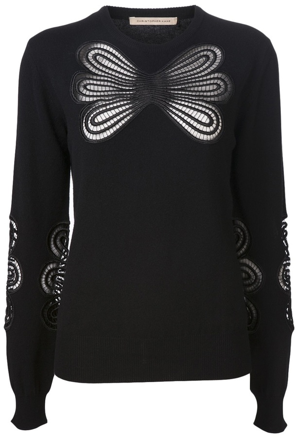 Christopher Kane abstract lace sweater