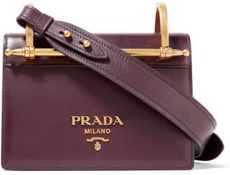 Prada Pattina Leather Shoulder Bag - Merlot
