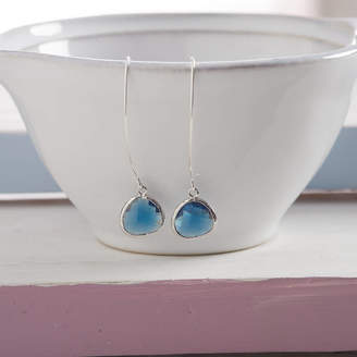 Simply Suzy Q Little Silver Raindrop Earrings
