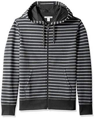 Amazon Essentials Men's Patterned Full-Zip Hooded Fleece Sweatshirt