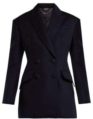 Alexander McQueen Double Breasted Virgin Wool Jacket - Womens - Navy