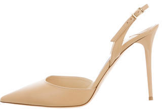 Jimmy Choo Jimmy Choo Leather Slingback Pumps