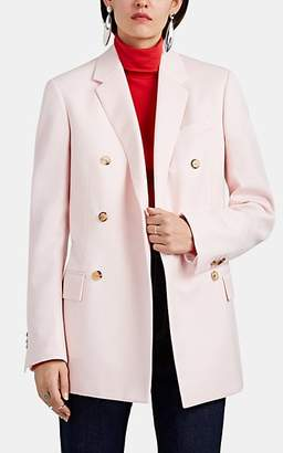 Calvin Klein Women's Oversized Wool Double-Breasted Blazer - Pale Pink