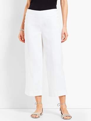 Talbots Linen Chelsea Straight-Leg Crop - Lined