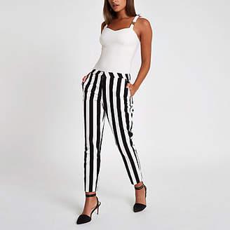 River Island White stripe print cigarette pants