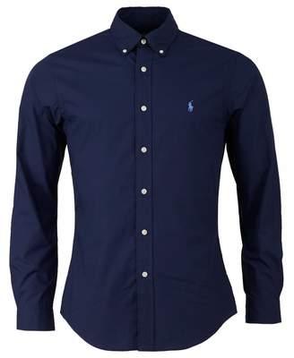 Slim Long Sleeved Cotton Poplin Shirt