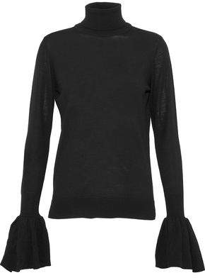 ADAM by Adam Lippes Fluted Knitted Wool Turtleneck Sweatre