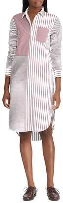 Lauren Ralph Lauren Mixed Stripe Shirt Dress