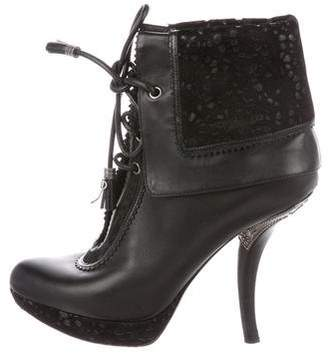 Christian Dior Leather Platform Boots