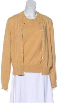 TSE Sleeveless Button-Up Cardigan Set