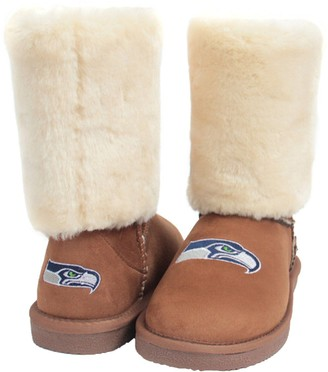 Unbranded Women's Cuce Tan Seattle Seahawks Fan Boot
