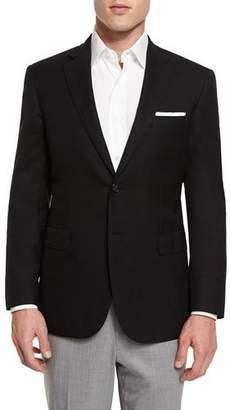 Brioni Twill Two-Button Blazer, Black