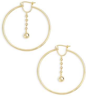 Argentovivo Beaded Drop Hoop Earrings