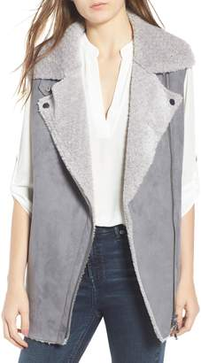 Love Token Faux Suede Vest