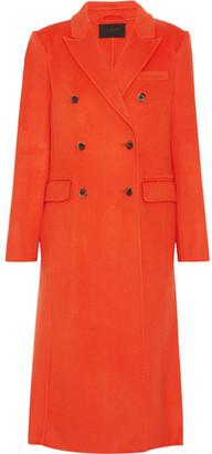 J.Crew - Collection Double-breasted Wool-blend Coat - Bright orange $705 thestylecure.com