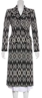 Michael Kors Wool Double-Breasted Long Coat