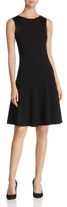 Emporio Armani Contrast-Back Fit-and-Flare Dress