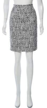Oscar de la Renta Bouclé Knee-Length Skirt