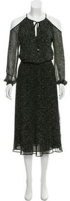 MICHAEL Michael Kors Long Sleeve Printed Midi Dress