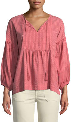 The Great Paneled Tunic Peasant Top