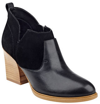 Marc Fisher Ltd Ginger Leather Booties $189 thestylecure.com