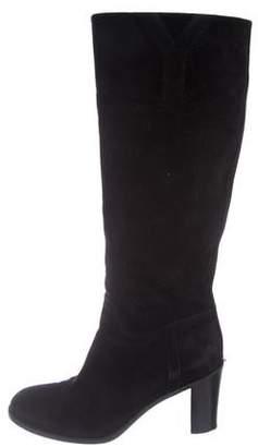 56b83a56af4 Saint Laurent Suede Knee-High Boots