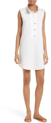 Women's Equipment Freda Distressed Cotton Tunic Dress $238 thestylecure.com